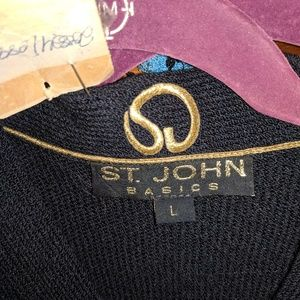 St John cardigan sweater black